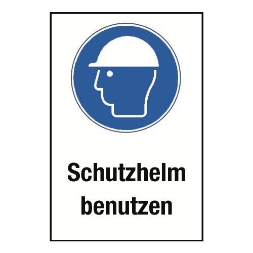"""Kombischild """"Schutzhelm benutzen"""" - M014"""