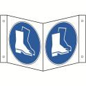 Nasenschild: Fußschutz benutzen - M008