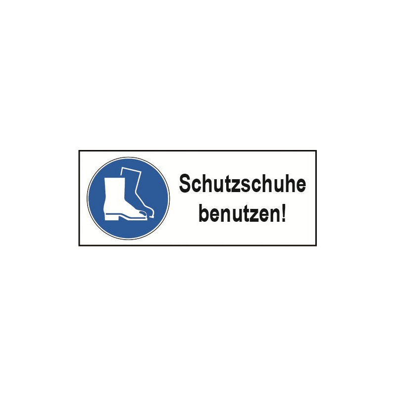 """Kombischild """"Schutzschuhe benutzen!"""" - M008"""