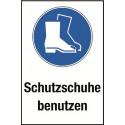 """Kombischild """"Schutzschuhe benutzen"""" - M008"""