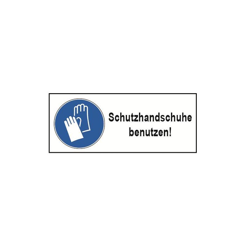 "Kombischild ""Schutzhandschuhe benutzen!"" - M009"