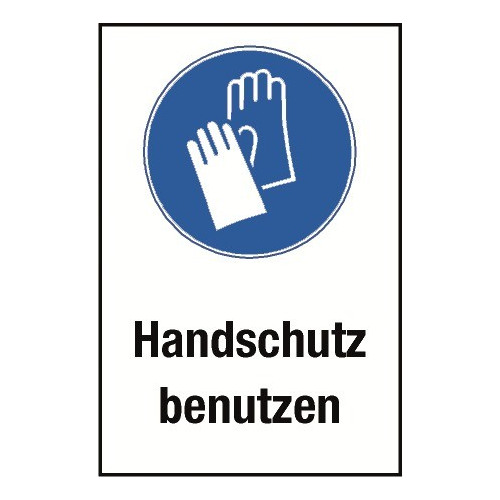 "Kombischild ""Handschutz benutzen"" - M009"
