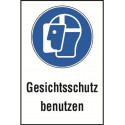 """Kombischild """"Gesichtsschutz benutzen"""" - M013"""