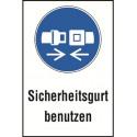 """Kombischild """"Sicherheitsgurt benutzen"""" - M020"""