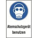 """Kombischild """"Atemschutzgerät benutzen"""" - M017"""