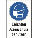 """Kombischild """"Leichten Atemschutz benutzen"""" - DIN EN ISO 7010 - M016"""