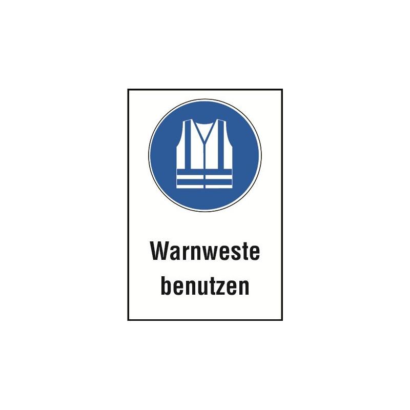 """Kombischild """"Warnweste benutzen"""" - M015"""