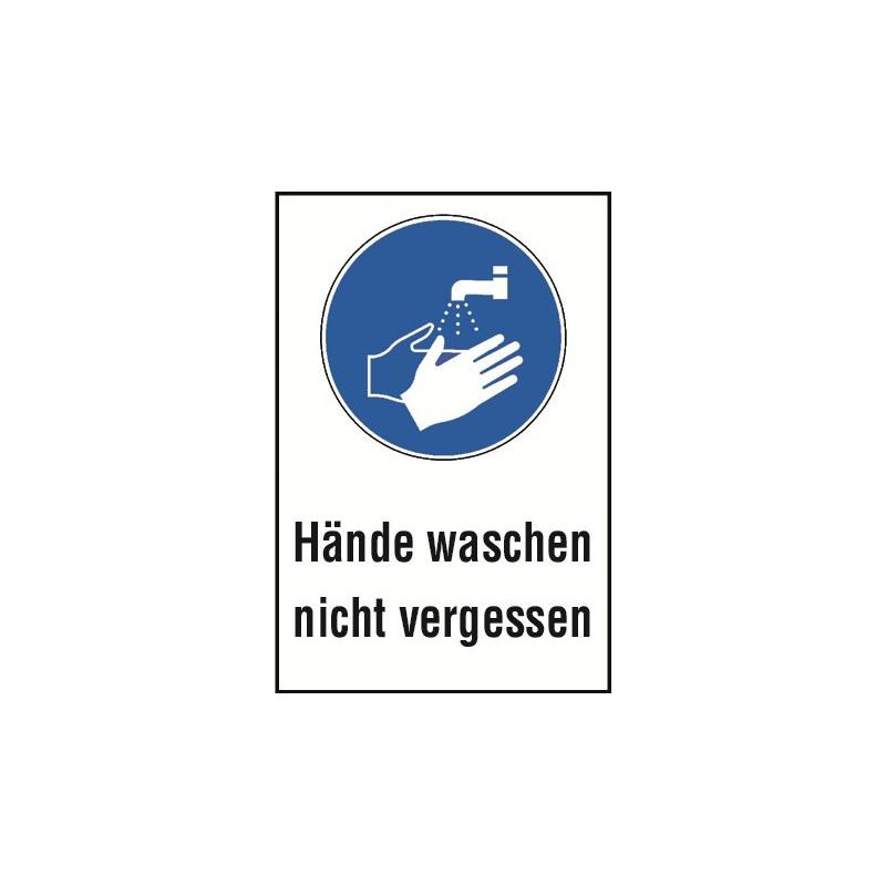 """Kombischild """"Hände waschen nicht vergessen"""" - M011"""