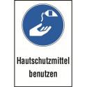 """Kombischild """"Hautschutzmittel benutzen"""" - M022"""