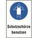 """Kombischild """"Schutzschürze benutzen"""" - M026"""