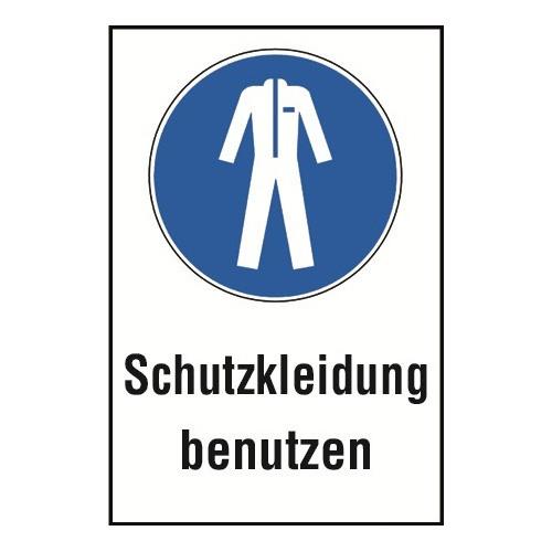 """Kombischild """"Schutzkleidung benutzen"""" - M010"""