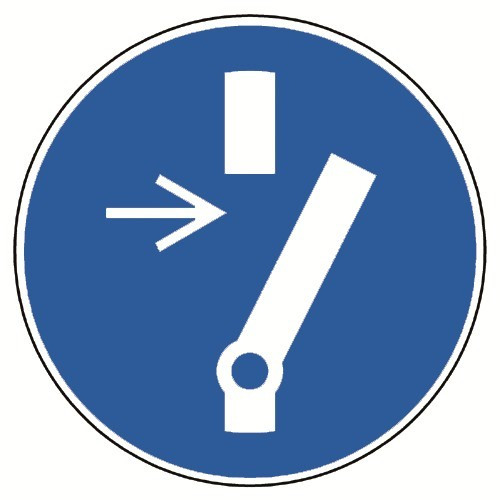 Vor Wartung oder Reparatur freischalten - M021
