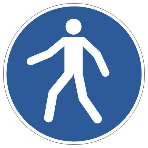 Fußgängerweg benutzen - M024