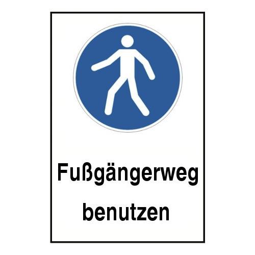 """Kombischild """"Fußgängerweg benutzen"""" - M024"""