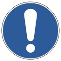 Allgemeines Gebotszeichen (nur in Verbindung mit einem Zusatzzeichen) - M001