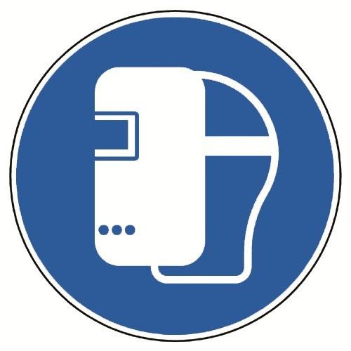 Schweißmaske benutzen - DIN EN ISO 7010, M019
