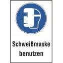 """Kombischild """"Schweißmaske benutzen"""" - DIN EN ISO 7010 - M019"""