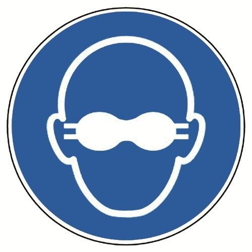 Weitgehend lichtundurchlässigen Augenschutz benutzen - DIN EN ISO 7010, M007