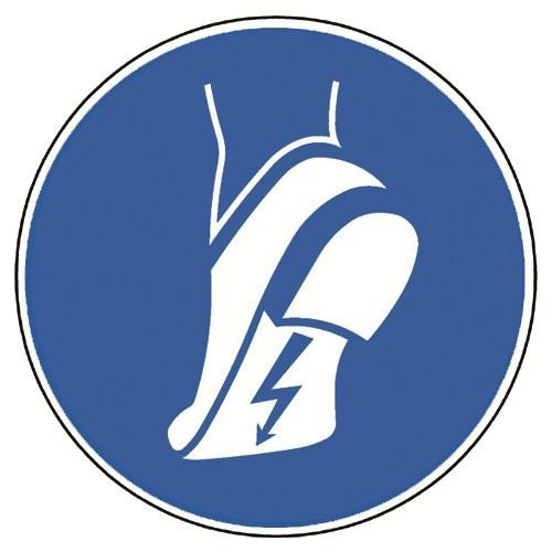 Leitfähiges Schuhwerk benutzen - DIN EN ISO 7010, M032