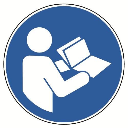 Anleitung beachten - DIN EN ISO 7010, M002