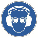 Augen- und Gehörschutz tragen, praxisbewährt