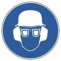 Kopf-, Augen- und Gehörschutz tragen, praxisbewährt