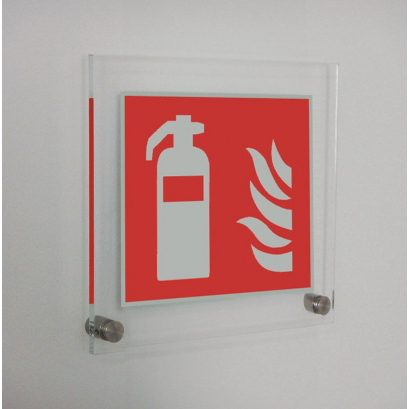 Acryl: Feuerlöscher - F001