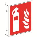 Fahnenschild: Feuerlöscher - F001