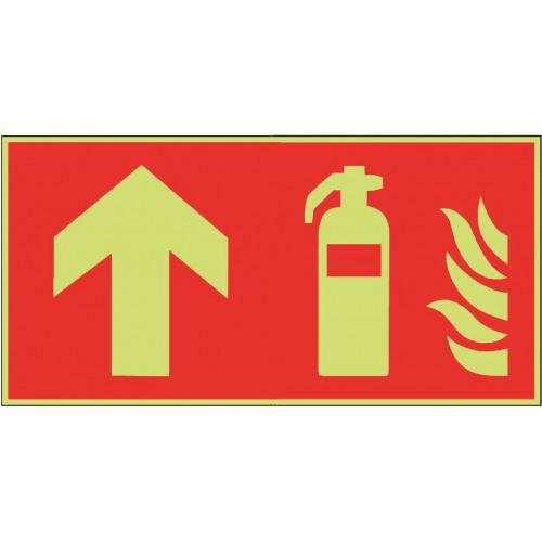 Feuerlöscher geradeaus - F001