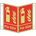 Nasenschild: Feuerlöscher EDV