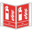 Nasenschild: Feuerlöscher für Elektrische Anlagen