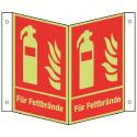 Nasenschild: Feuerlöscher für Fettbrände