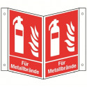 Nasenschild: Feuerlöscher für Metallbrände