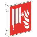 Fahnenschild: Löschschlauch - F002