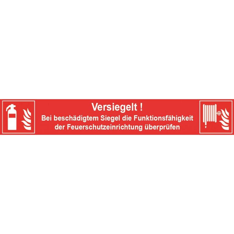 Siegel für Feuerlöscheinrichtungen