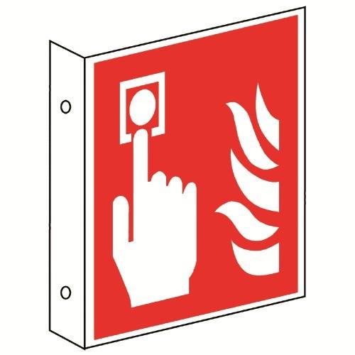 Fahnenschild: Brandmelder - F005
