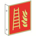 Fahnenschild: Feuerleiter - F003