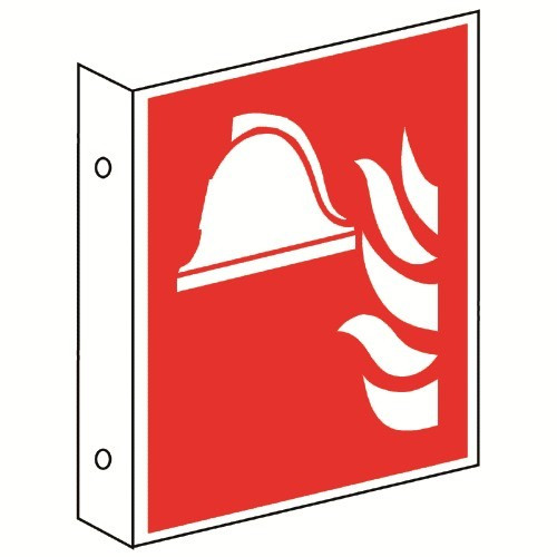 Fahnenschild: Mittel und Geräte zur Brandbekämpfung - F004