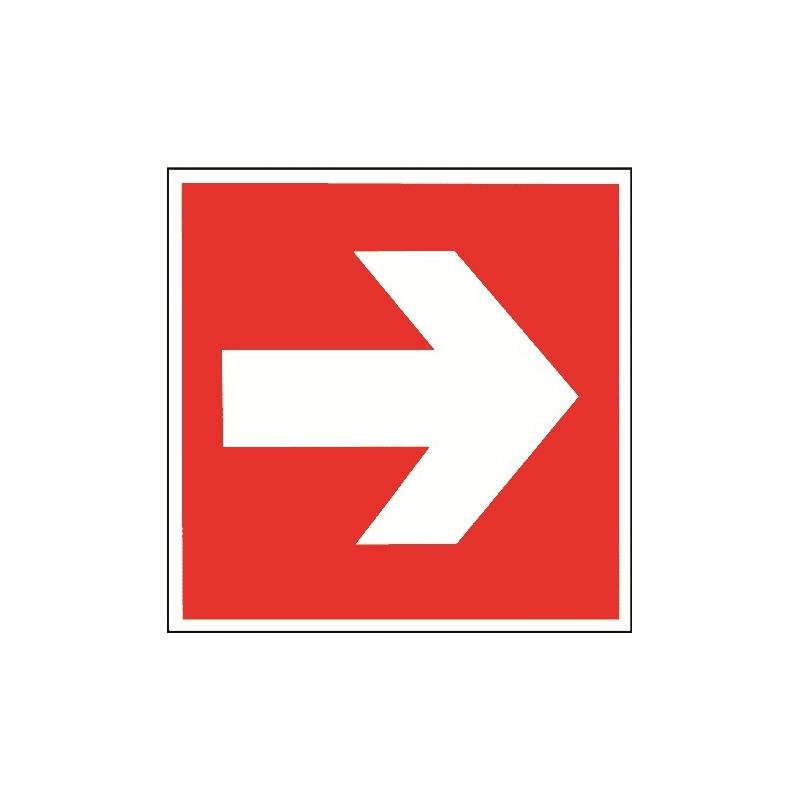 Richtungspfeil (nur in Verbindung mit einem anderen Brandschutzzeichen)