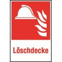 Kombischild: Löschdecke - F004