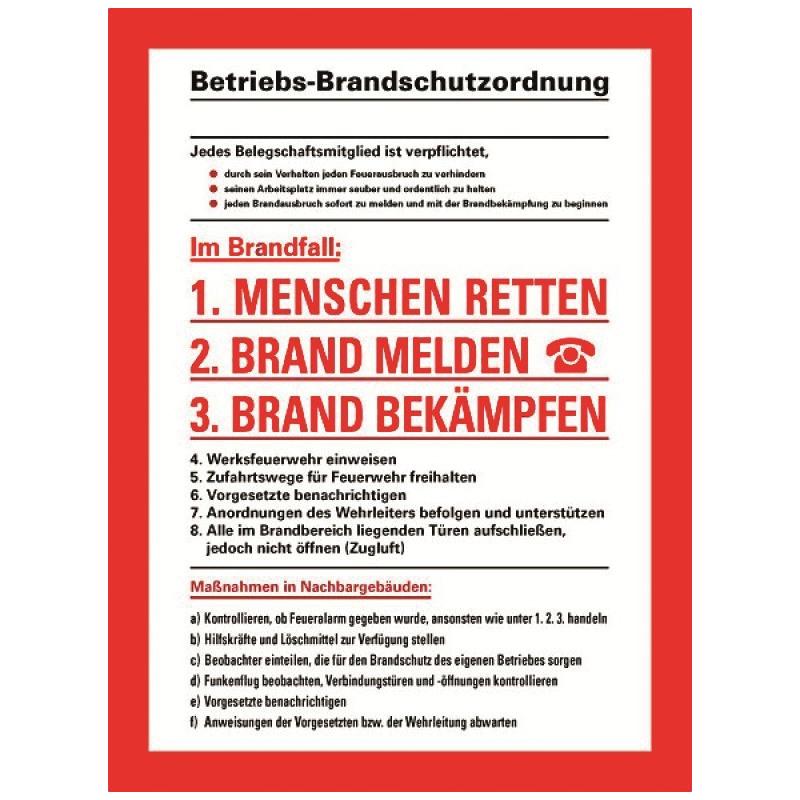 Betriebsbrandschutzordnung