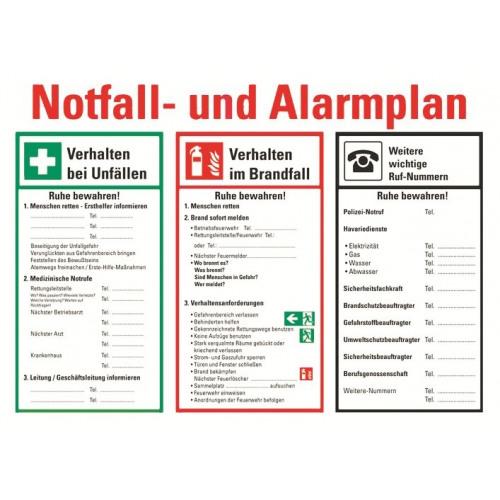 Notfall- und Alarmplan (zum Selbstbeschriften)