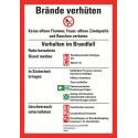 Brände verhüten, DIN 14096, Brandschutzordnung Teil A für bauliche Anlagen mit Handfeuermelder