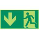 Megaschild: Rettungsweg durch Notausgang - E001