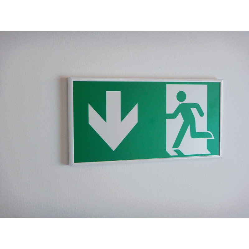 Alu-Rahmen: Rettungsweg durch Notausgang - E001
