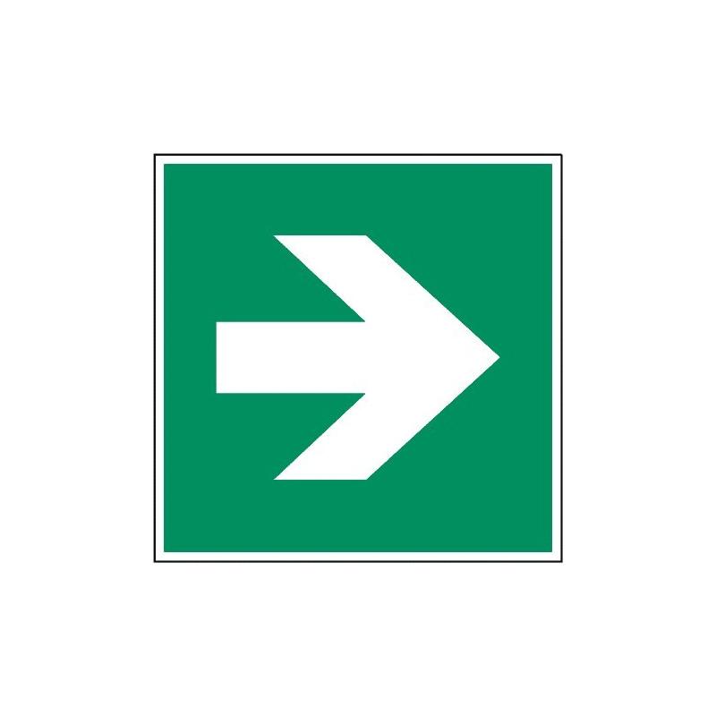 Richtungspfeil (nur in Verbindung mit anderen Rettungszeichen)