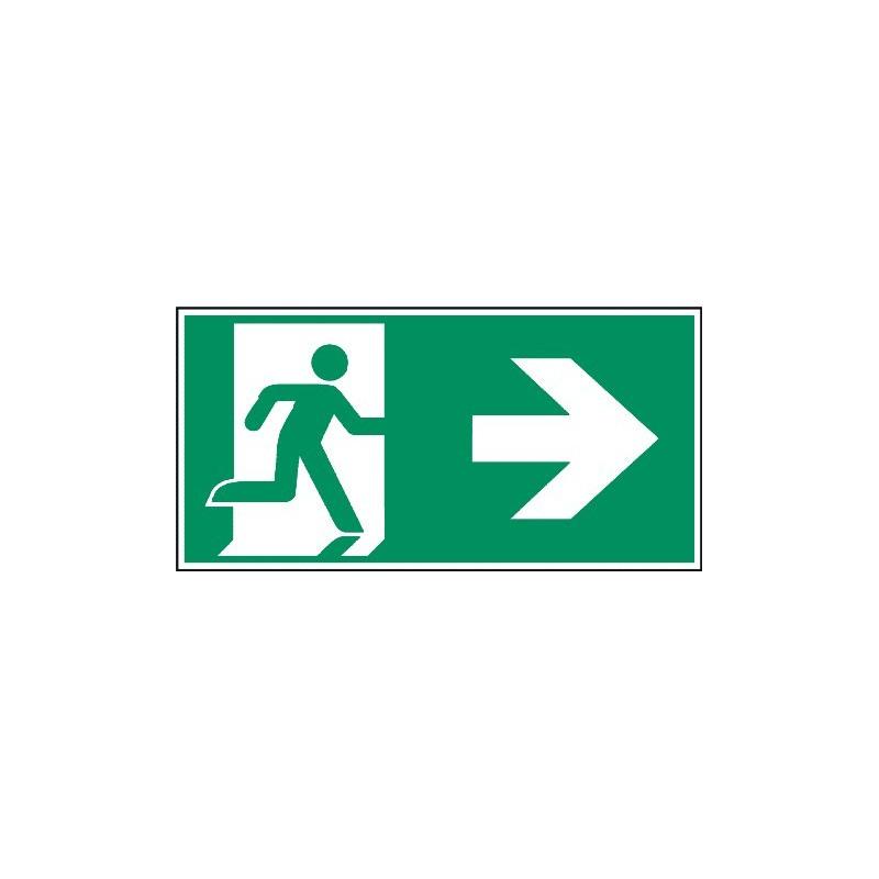 Megaschild: Rettungsweg rechts - E002