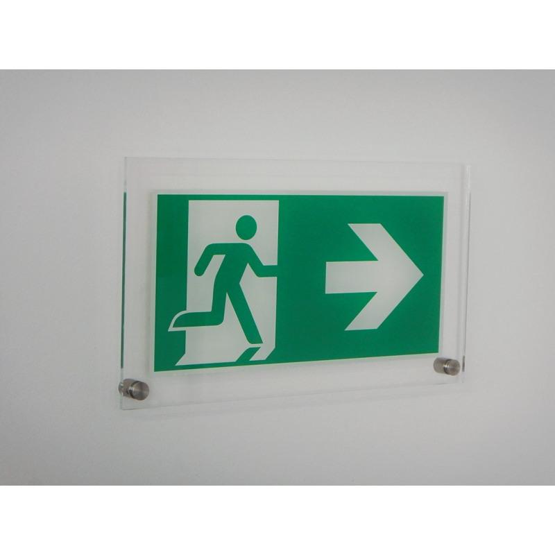 Acryl: Rettungsweg rechts - E002