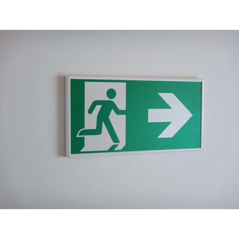 Alu-Rahmen: Rettungsweg rechts - E002