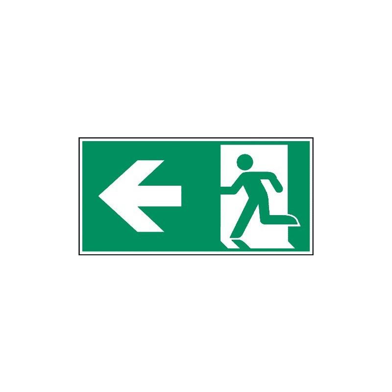 Megaschild: Rettungsweg links - E001